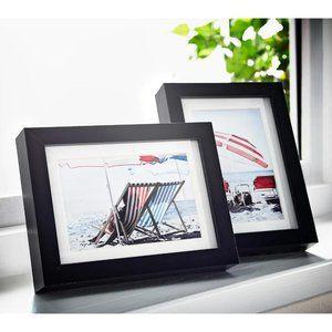 "NWOT IKEA Ribba Black Picture Frames- 5x7""/13x18cm"